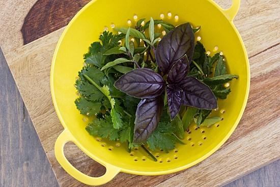 Herbs for French Lentil Salad