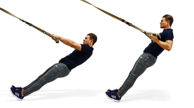 TRX Workout: Inverted row