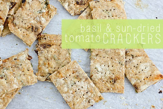 How To Make Basil & Sun-Dried Tomato Crackers